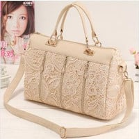 2017 princess lace fashion bag women's handbag  women's cross-body bag women's messenger bag