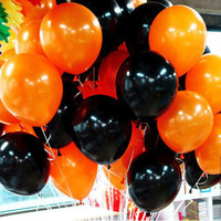 10inch halloween decoration latex balloons 2.2g High Quality black orange halloween party decorations latex balls toys supplies