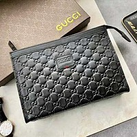 GUCCI Fashion New More Letter Women Men High Quality Handbag Briefcase Black