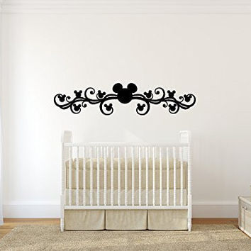 Mickey Mouse Inspired Border Vinyl Wall Words Decal Sticker Graphic