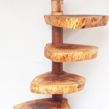 Unique Coffee Table, Wooden Side Table, Rustic Coffee Table, Rustic Side Table, Wooden nightstand, Wooden coffee table, Four Tier cake stand