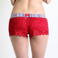FOXERS - Red White and Blue Lace Boxers