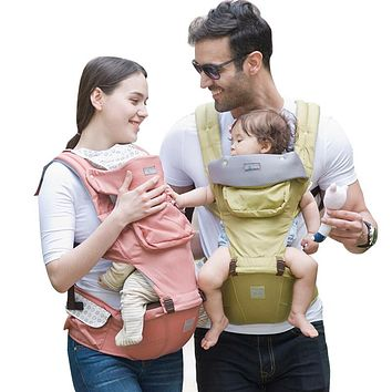 Backpack Carriers Baby Carriers Baby Comfortable Infant Backpack Breathable Waist Stool Baby Belt Sling Infant Backpack Carriers