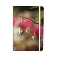 "Angie Turner ""Bleeding Hearts"" Pink Flower Everything Notebook"