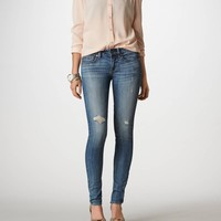 AEO Women's Skinny Jean (Dark Broken In)