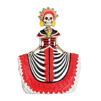Day of the Dead - Red Senorita Statuette by Summit Collection