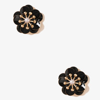 Lacquered Tropical Flower Studs