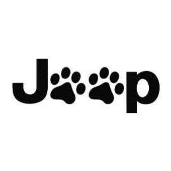 Puppy Paw Symbol Jeep  Car/Laptop/Window/Wall Decal