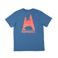 Fayettechill Tee- Inda Wood- Glass Blue