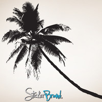 Vinyl Wall Decal Sticker Tropical Palm Tree  #781