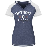 Majestic Detroit Tigers Golden Future Raglan Tee - Women's, Size: