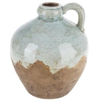 Light Blue Crackled Jug