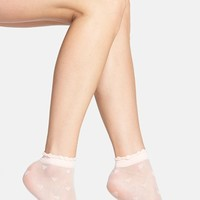 Women's Nordstrom 'Heartbreaker' Sheer Ankle Socks, Size 9/11