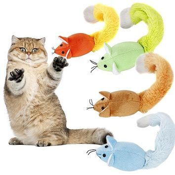 Cute Long Tail Mouse Pet Cat Training Playing Tool Interactive Toy with Catnip