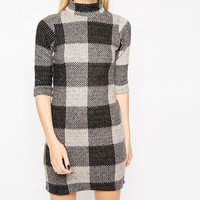 ASOS Shift Dress in Brushed Check