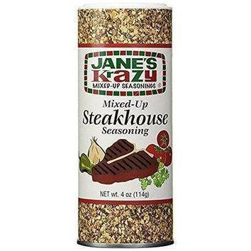 Jane's Krazy - Steakhouse Seasoning - 4 Oz - Case Of 12