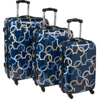 3 Piece Spinner Luggage Set Theme: Mickey Ears