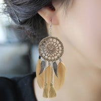 Earrings Feather Stylish Dream Catcher [11573014292]