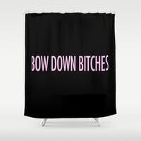 Bow Down Shower Curtain by Kirstenariel