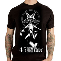 45 Grave- Band Pic on a black girls fitted shirt