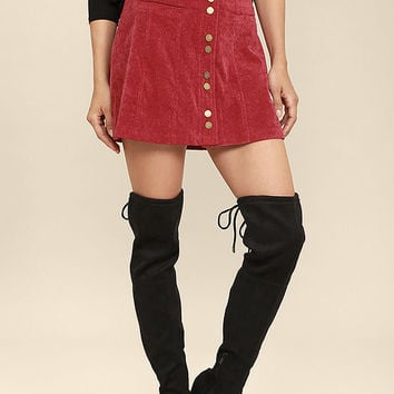 Catwalk Strut Black Suede Over the Knee Boots