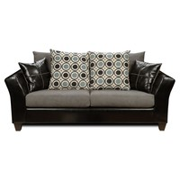 Chelsea Home Holly Sofa - Denver Black / Flat Suede Graphite / San Francisco Blueberry | www.hayneedle.com