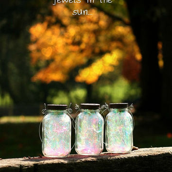 Fairy Lantern - Mason Jar Decor - Fall Decor - Garden Decor - Fairy Realm - Mason Jar Solar Light - Outdoor Lighting - Garden Lighting