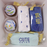 8 Piece Unique Baby Boy Gift nautical whale 12 month