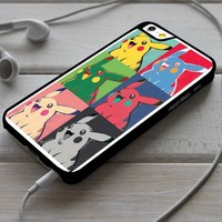 Warhol Pikachu Face iPhone 4/4s 5 5s 5c 6 6plus 7 Case