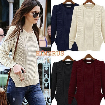 Women's Casual Long Sleeve Knitwear Jumper Cardigan Long Coat Jacket Sweater New = 1919958788