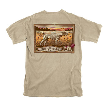 Pointer Tee in Khaki by Fripp & Folly