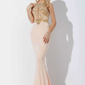 Blush Pink Jersey Prom Dress 33473 from Jovani | Prom?💍