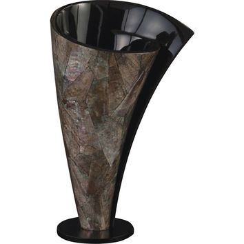 Mother of Pearl Twisted Vase (Short)