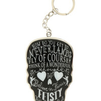 Disney Peter Pan Skull Quotes Metal Key Chain