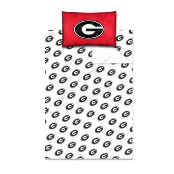 Georgia Bulldogs NCAA Twin Sheet Set