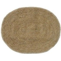 Jute Natural Braided Oval Rug Size: Oval 4`6` x 6` $97.00