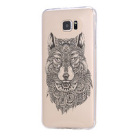 Tribal Wolf Samsung Galaxy s6 case, Galaxy S6 Edge Case, Galaxy S5 case C043
