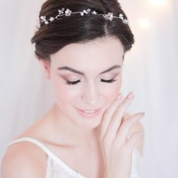 Crystal Decorated Wedding Bridal Hair Vine