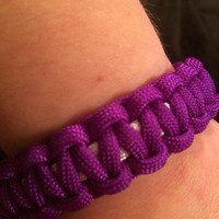 Purple and White Paracord Bracelet