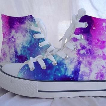 custom converse galaxy converse sneakers hand painted on converse shoes canvas shoes