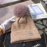 CHANEL Women Beanies Knit Winter Hat Cap