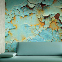 Delorme Abstract Wall Mural design by Carl Robinson | BURKE DECOR
