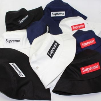 Supreme Fashion Casual Embroider Cap Women Woolen Flat Top Hat G