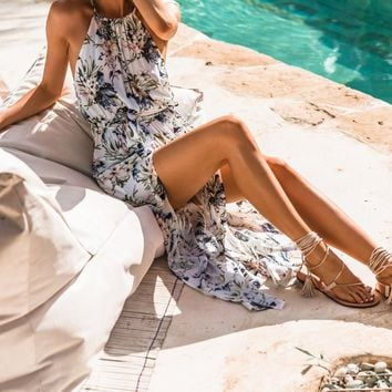 Floral, Maxi Dress With Slit