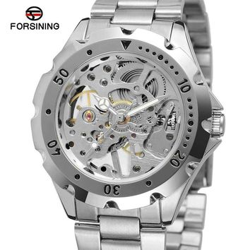 FORSINING Men Women Watches Top Brand Luxury Skeleton Male Lady Clocks Hand Wind Mechanical Dress Lover Female Watch Gift 0071