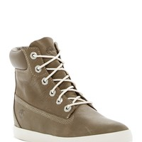 "Timberland | Flannery 6"" Leather Wedge Sneaker 