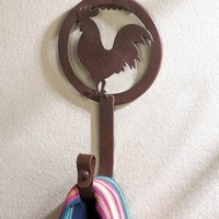 Country Rooster Decor Wall Hook