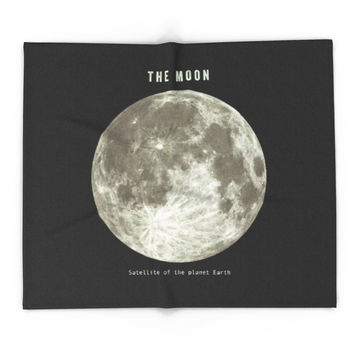 Society6 The Moon Blanket