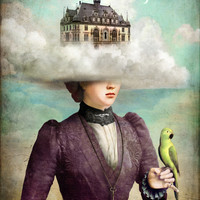 Castle in the Clouds Art Print by Christian Schloe