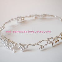 Bridal Necklace White Wedding necklace Pearl by SenoritaJoya